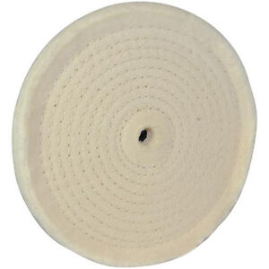 Spirale-Con-cuciture-Ruota-Lucidatrice-150mm-50-Strati-di-Cotone-Metalli