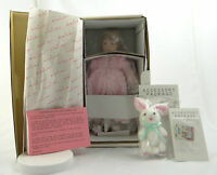 Danbury Mint Bedtime For Stephanie Doll 12-inch + 2 Accessories + Stand