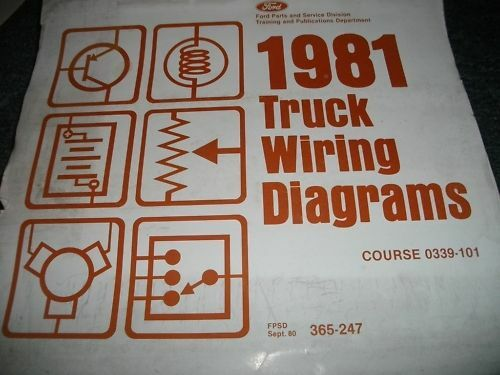 1981 Ford Courier Wiring Diagrams Manual Set Oem