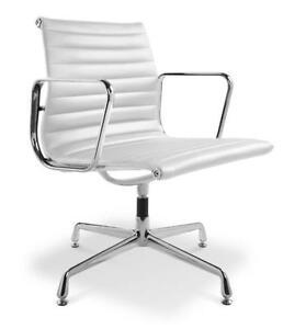 Eames Style Ea108 Ivory White Leather