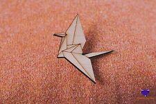 Grúa De Origami Lindo broche insignia con De madera Madera Joyería
