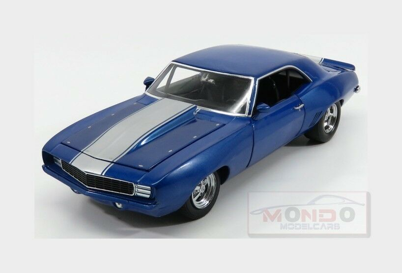 Chevrolet Camaro 0 Drag Kings Coupe 1969 Azul Blanco GMP 1:18 GMP18876