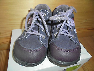 Ricosta Asa Gr. 21 schmal Mädchen Halbschuhe Schuhe violett lila rosa WMS Leder