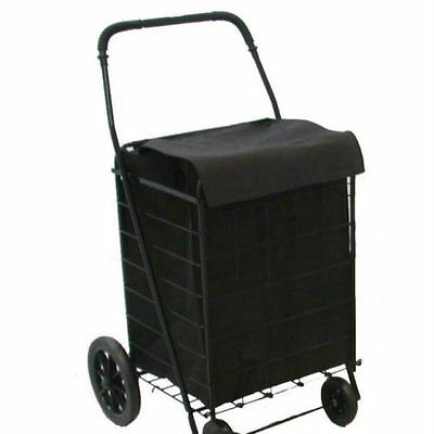 Grocery Folding Shopping Cart ''Liner'' Attaches Easily To Cart With Lid