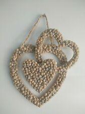 Gift Looped seashell heart Wall art Hampton/'s decor beach house coastal home