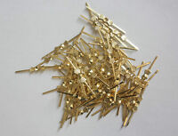 1000PCS 33MM GOLDEN BOWTIE CRYSTAL BEADS CONNECTOR HANG PIN CHANDELIER PART G-33