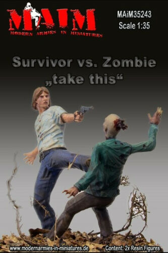 TAKE THIS Figures High Quality Resin 2 Figures 1//35 SURVIVOR VS.ZOMBIE