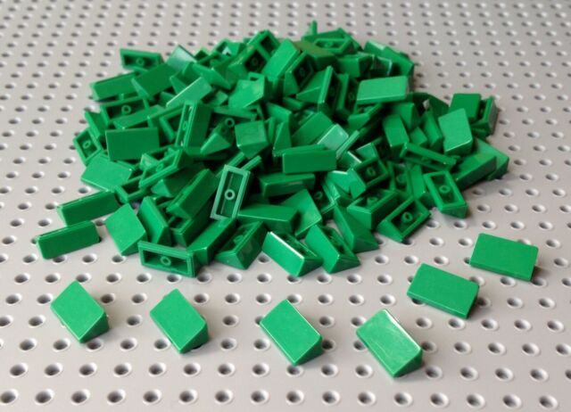 Lego Green 1x2 2/3 Slope Brick Cheese Wedge (85984) x20 in a set *BRAND NEW*