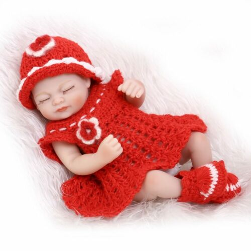 Silicone Vinyl Reborn Lifelike miniature Newborn baby doll soft real touch