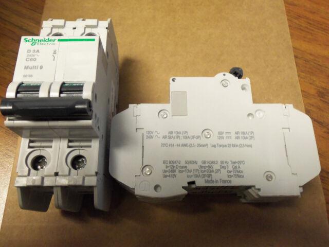 SCHNEIDER ELECTRIC C 3A MULTI 9 C60   277~65V 3AMP 1 POLE CIRCUIT BREAKER