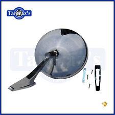 Chevy Chrome Round NO Bowtie Rear View SMOOTH Base Door Side Mirror & Hardware