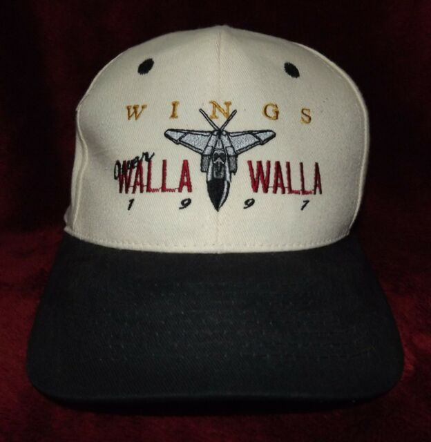 Wings Over Walla Walla 1997 Baseball Cap Hat Snapback KC Jet Fighter Logo New