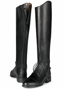 ARIAT-Women-039-s-Heritage-II-Back-Zip-Tall-Boot-Black-55001-New