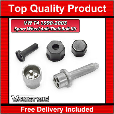 FOR SPARE STEEL WHEELS ONLY GENUINE!! Volkswagen Transporter T5 NEW SPARE LOCKING WHEEL NUT BOLT KIT