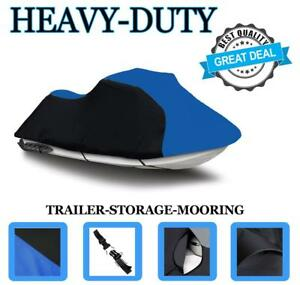 BLACK/BLUE Jet Ski PWC Cover for Polaris SLTH SLT 1994-99 Trailerable