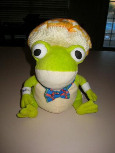 "Plushland 8/"" FedEx Advertising Mushroom Headed Frog with Bowtie Plush  Mascot"