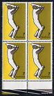 1974 Sport Cricket Selvedge 1 Block of Four 4 Stamp MUH Mint Australia
