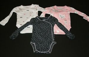 63f9ee1eb New Carter's Girls 3 Pack Kitty Cat Side Snap Bodysuits NWT Preemie ...