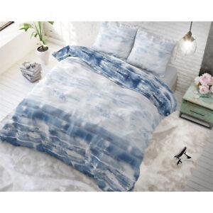 Bettwäsche Mit Aufdruck Shibori Fliesen Blau 200 X 220 Ebay