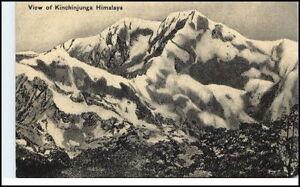 Asien-Asia-Nepal-Vintage-Postcard-1920-View-of-Kinchinjunga-Himalaya-Gebirge