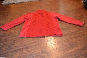 F0- Jenny C Red Full Zip Jacket Size S
