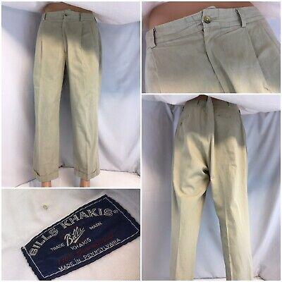 Pants 100% True Bill's Khakis Pants 36x27 Tan 100% Cotton Pleats Usa Euc Ygi D9-587 Selling Well All Over The World Men's Clothing