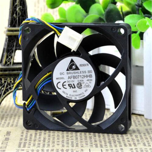 Delta AFB0712HHB 7015 70x70x15mm Cooler Cooling Fan PWM 12V 0.45A 4Pin #M724 QL