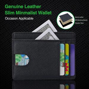 a59eaf79e22 Image is loading Slim-Wallet-RFID-Front-Pocket-Wallet-Minimalist-Secure-