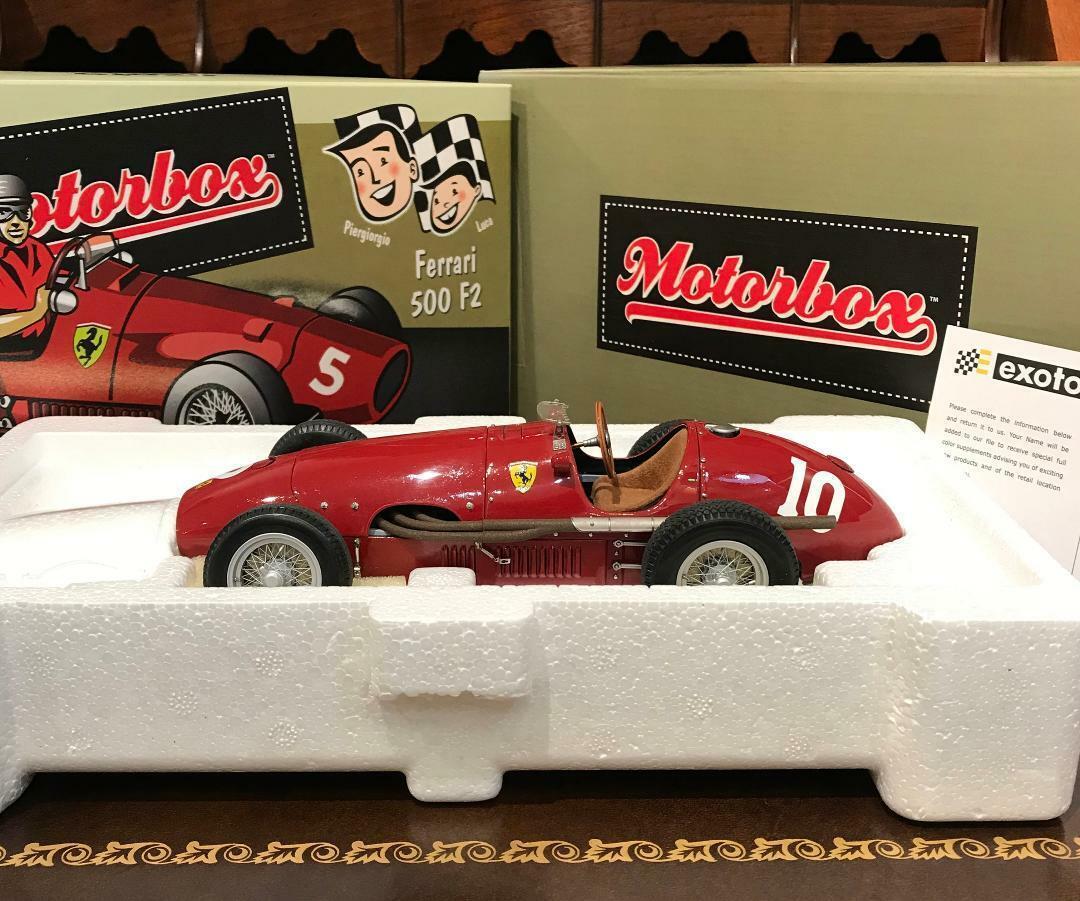 Exoto 1 18 1953 Ferrari Tipo 500 F2 Long Nose   10 Alberto Ascari Boxed