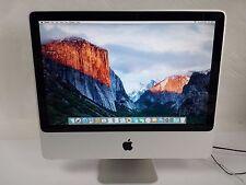"Apple iMAC A1224 Mid-2009 20"" Intel Core 2 Duo 2.00 GHz  4GB 160GB El Capitan"