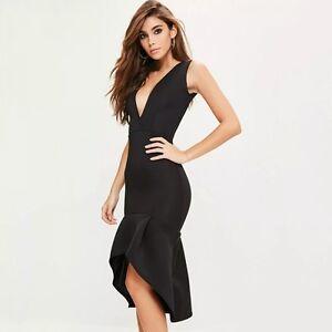 quality design a263c 3f393 Dettagli su Elegante raffinato vestito abito tubino lungo morbido nero  ballo evento 3502