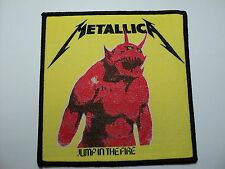 METALLICA JUMP IN THE FIRE   WOVEN PATCH