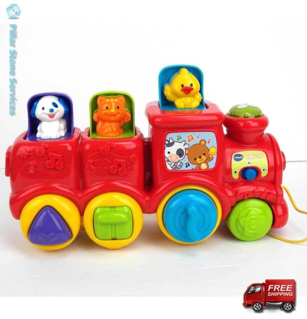 Vtech Roll and Surprise Animal Train Songs Talks Pop Up Animals - Excellent