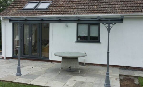 Veranda/garden structure/choice of colours/glass roof / choice of ...