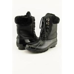 48eefa67041 Steve Madden TSTORM Women US 9 Black Winter Boot Pre Owned 1857