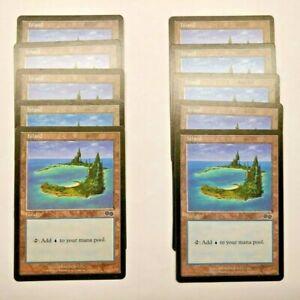 10x Urza's Saga ISLAND #336 Same Art Basic Land NM/SP MTG Magic the Gathering