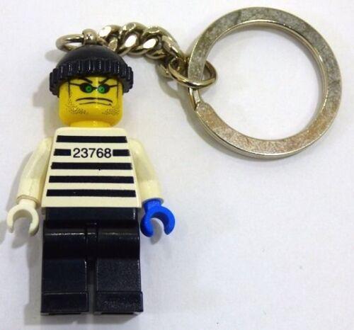 LEGO 3925 Town City Brickster Burglar Minifigure Key Chain from 2002 NEW
