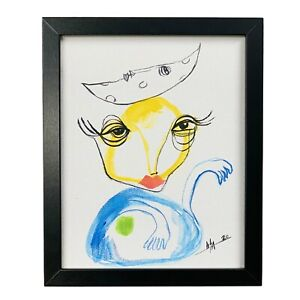 PAINTING-WATERCOLOR-ON-CANVAS-PANEL-FRAME-INCLUDED-8X10-CUBAN-ART-by-LISA
