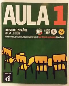 AULA-1-CORSO-SPAGNOLO-Edizione-2016-con-CD-audio-MP3-editore-Difusion