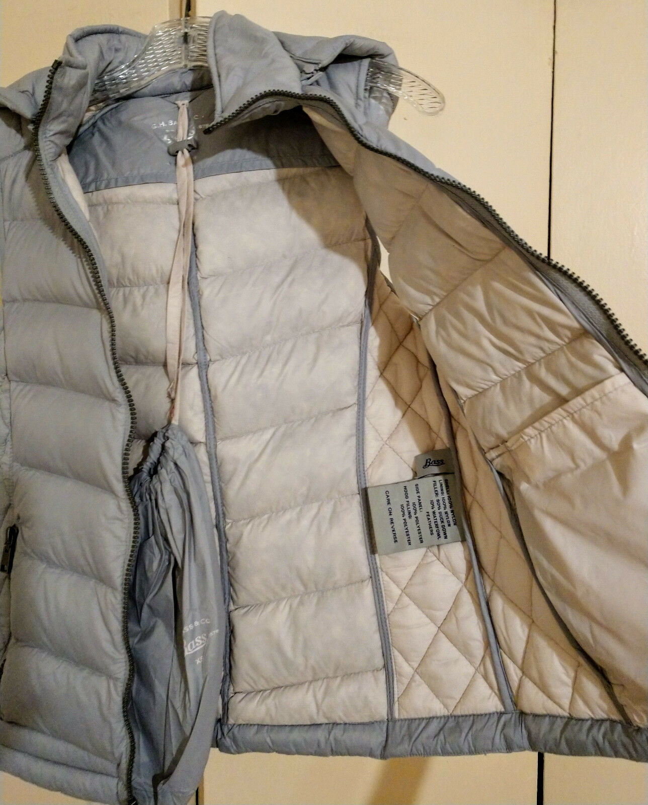 Bass hooded down down down vest women XS, fits as S 21d441