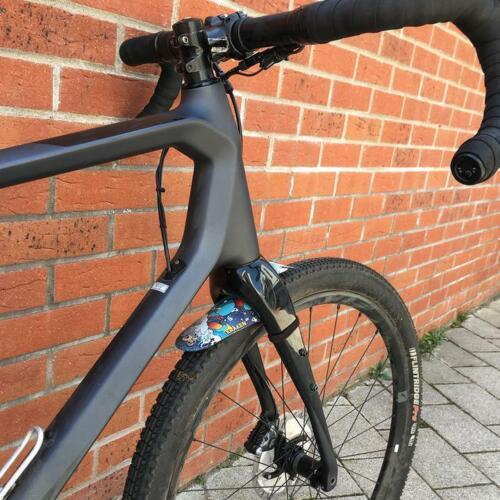 RideGuard Vision Front Mudguard for Gravel /& CX Bikes Classic Black