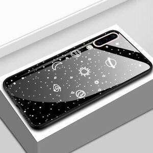 New-For-Huawei-P30-Luxury-Space-Tempered-Glass-Hybrid-Shockproof-Case-Back-Cover