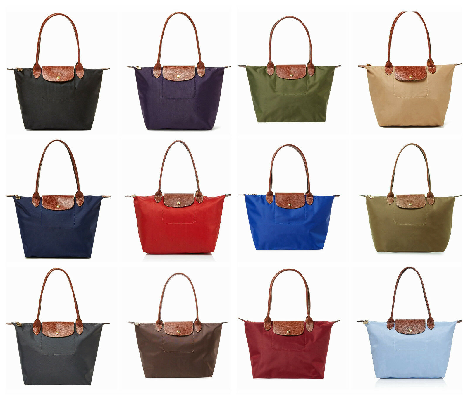 Longchamp Le Pliage Medium Nylon Tote Bag 2605089 Burnt Red Authentic Ebay