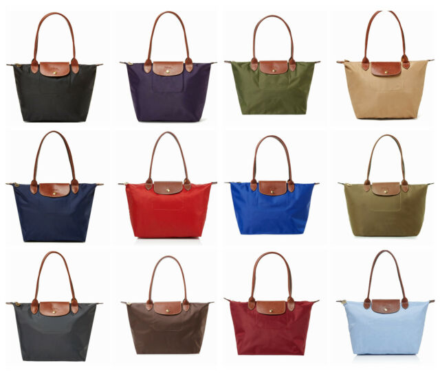 NWT Longchamp Le Pliage Medium Sml Long Handle Nylon Tote 2605089 Multi Colors