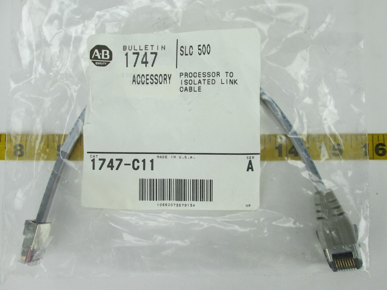Allen Bradley Cable 1747-C11 SER A SLC 500 Processor to Isolated ...
