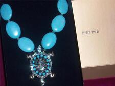 Heidi Daus Rockin' Turtle Simulated Turquoise Necklace  NEW