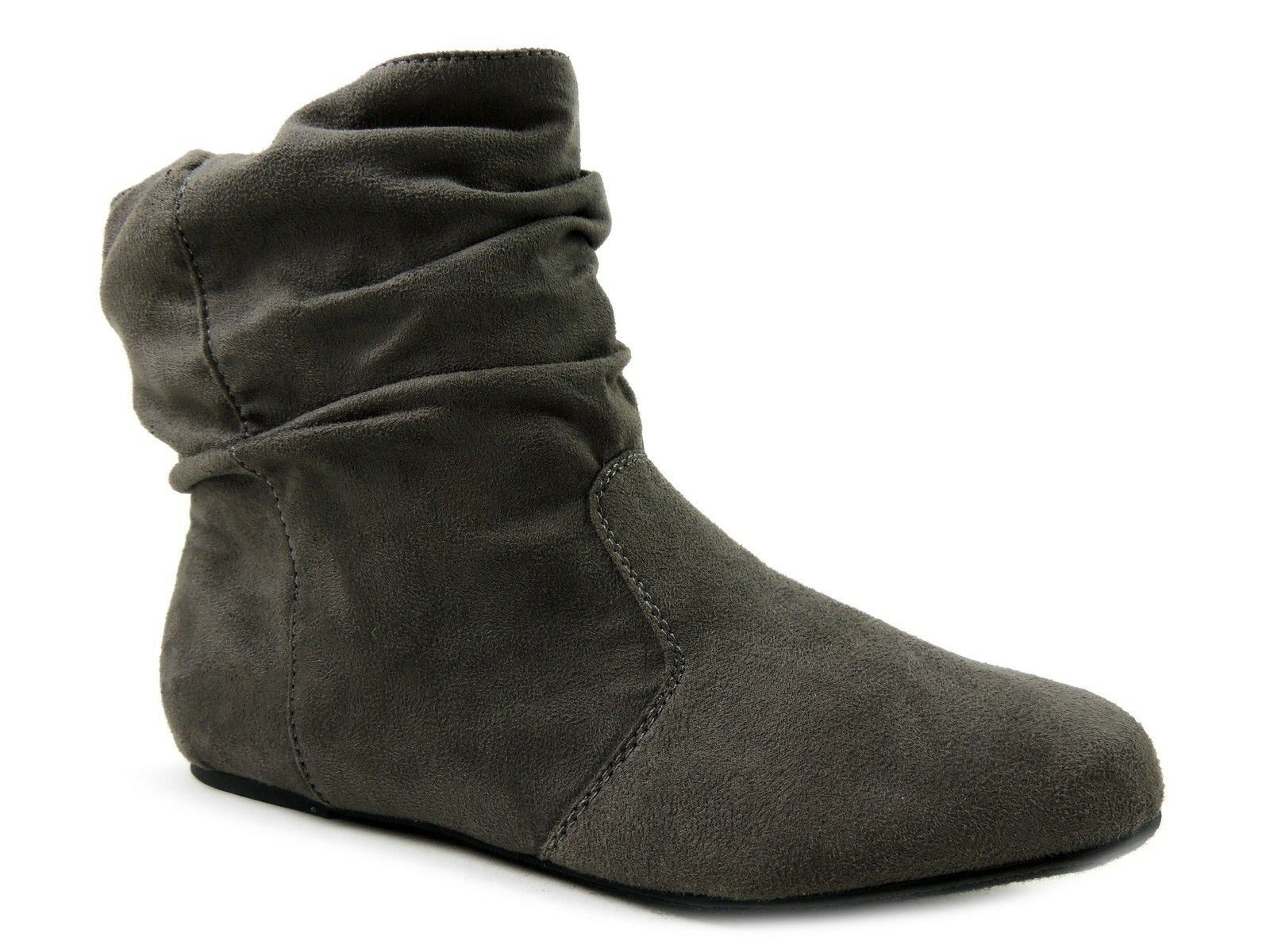 Material Girl Women's Shoes, Snazzy Slouch Ankle-Boots Grey Size 9 Medium (B, M)