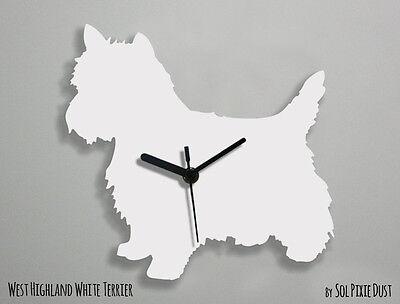 Wall Clock Cesky Terrier Dog Silhouette