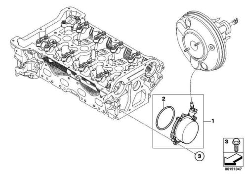 ORIGINALE BMW 11667566483-o-ring 56 x 2,75mm 1er 3er MINI