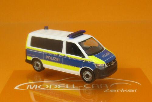 "Herpa 094672 VW T6 Bus /""Polizei Brandenburg/"" HO 1:87 NEU"